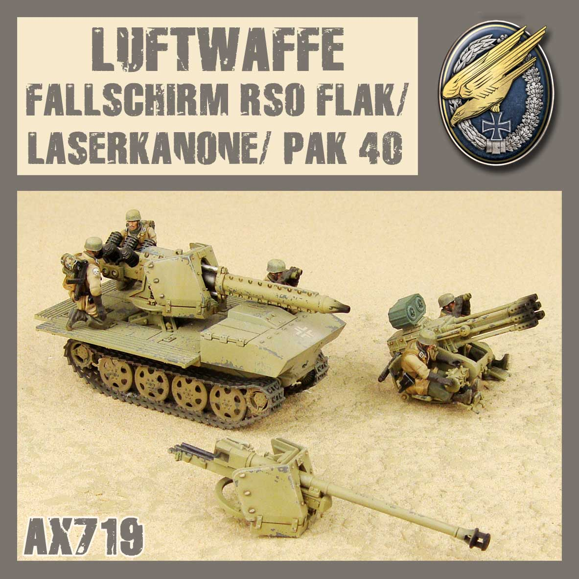 Fallschirm RSO 3w1
