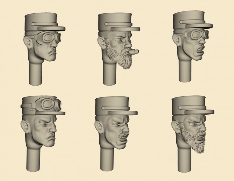 FFL Kepi Heads Set - Model Kit