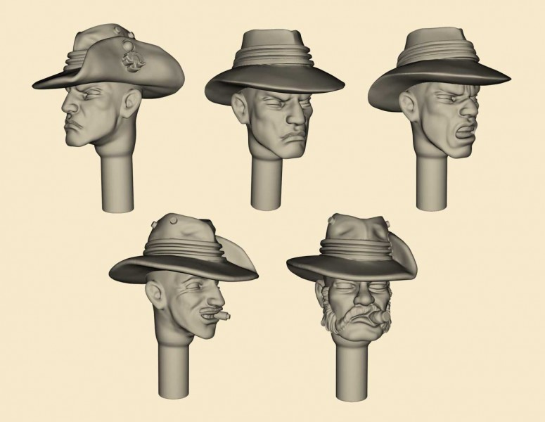 ANZAC Heads Set