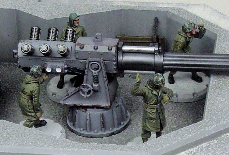 ''ALLIED ARTILLERY CREW'' MODEL KIT