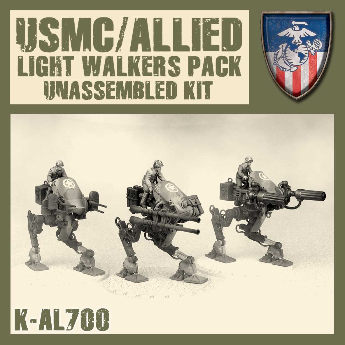 Lekki Mech Aliancki Zestaw – Kit (Allied Light Walkers Pack – Kit)