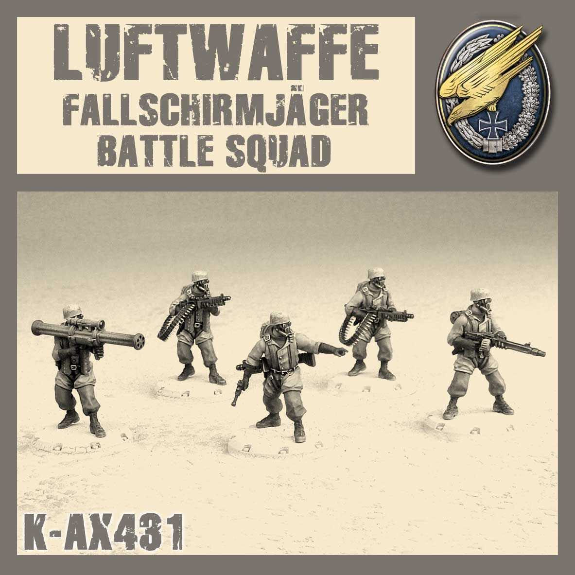 Zdjęcie FALLSCHIRMJÄGER BATTLE SQUAD – MODEL KIT