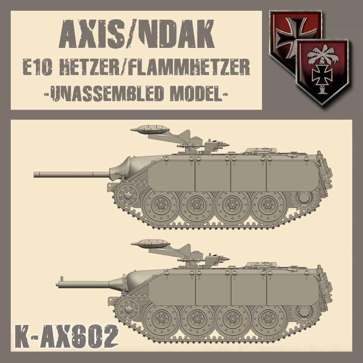 (Przedsprzedaż) E10 Hetzer/Flammhetzer Kit