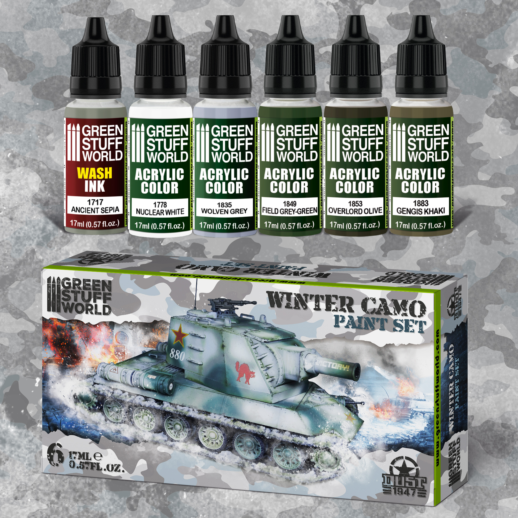 Dust 1947 Paint Set - Winter Camo