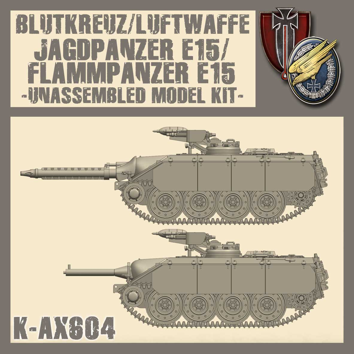 E15 Jagdpanzer/Flammpanzer Kit
