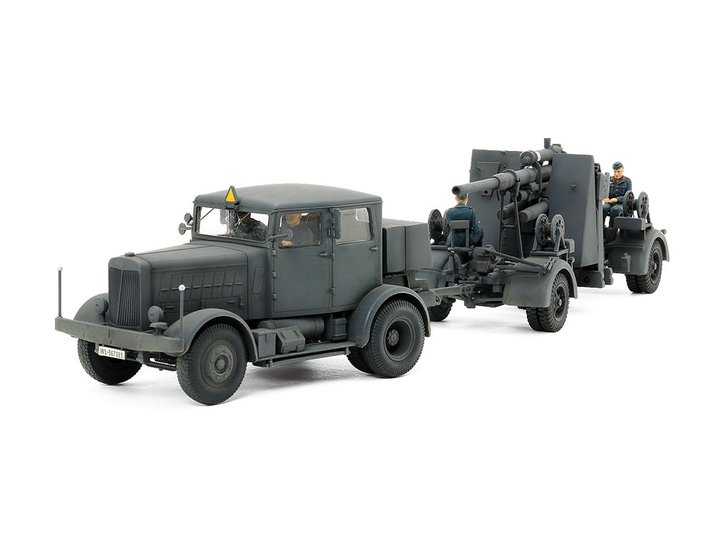 Heavy Tractor SS-100 & 88mm Gun Flak37 Set (Tamiya)