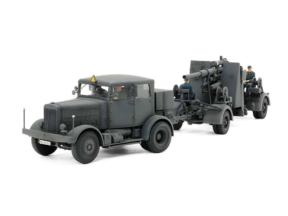 Ciągnik SS-100 i 88mm działo FLAK37 (Tamiya)