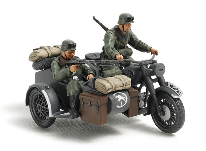 Motocykl z koszem bocznym(Tamiya)