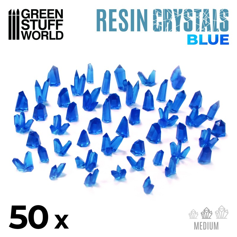 Resin Blue Crystals
