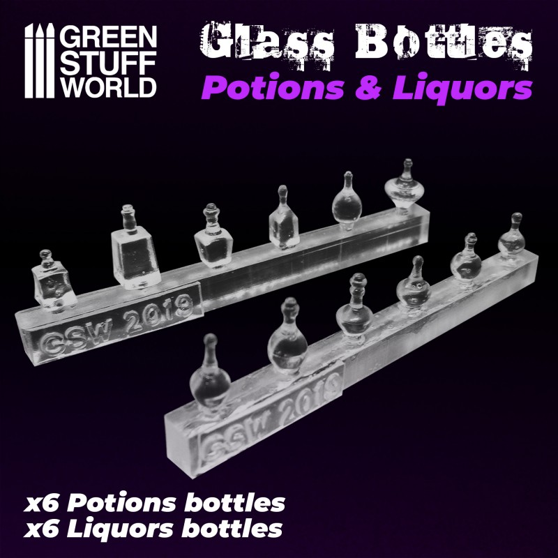 Resin Potion and Liquor Bottles