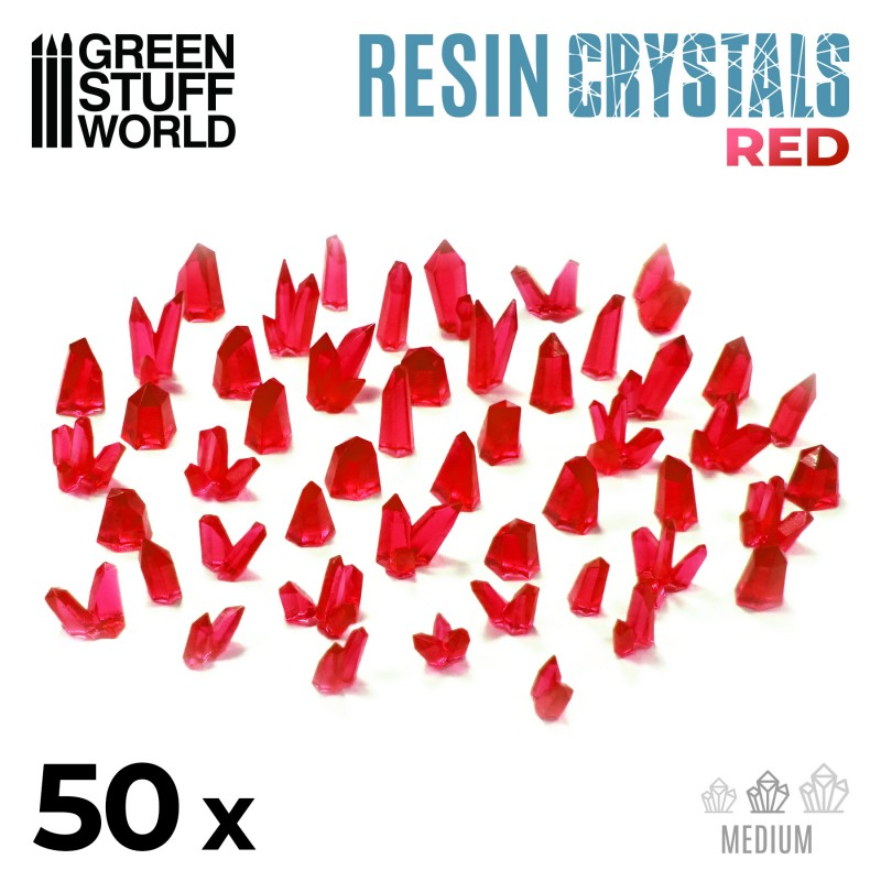 Resin Red Crystals