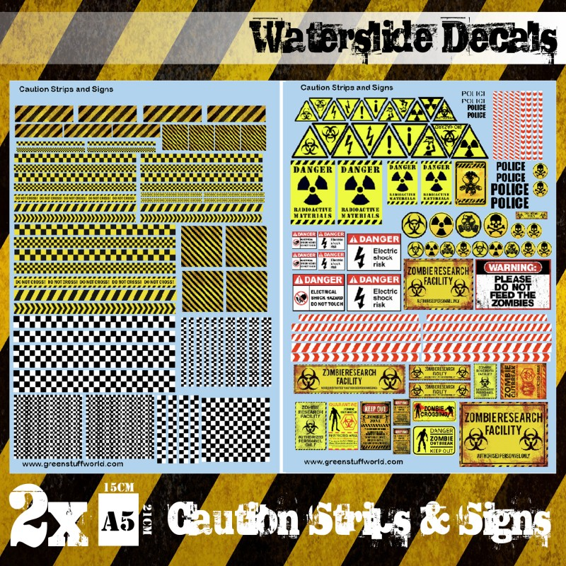 Zdjęcie Waterslide Decals – Caution Strips and Signs