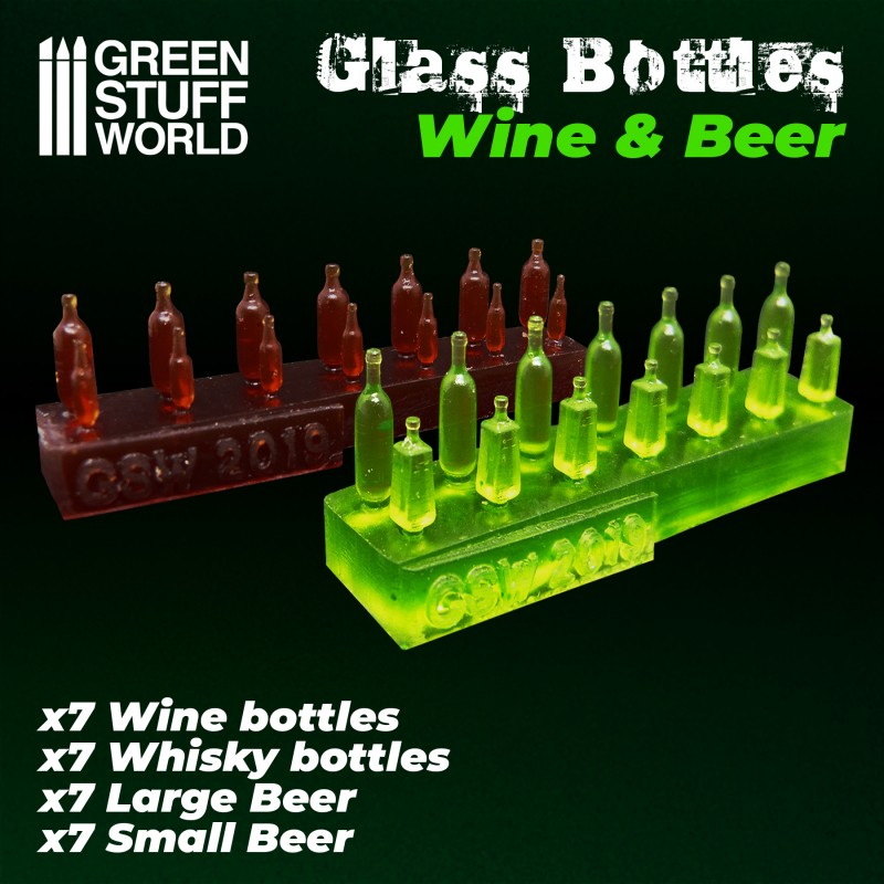 Resin Wine and Beer Bottles