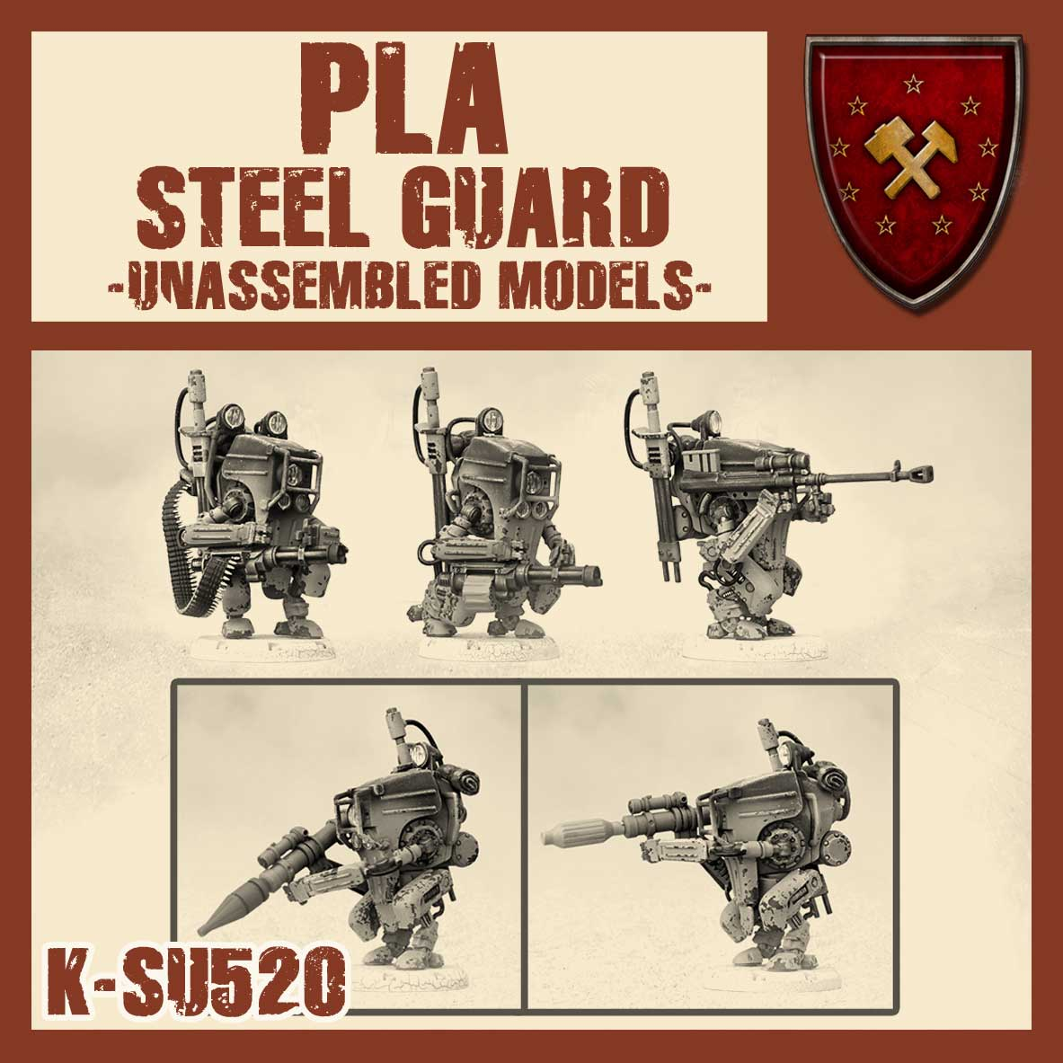Zdjęcie PLA Steel Guard Multi-Option Squad Kit