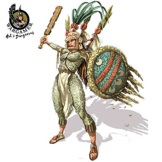 Atotoztli, the Aztec Warrior (54 mm)