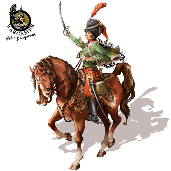 Victoria, the French Hussar (28 mm)