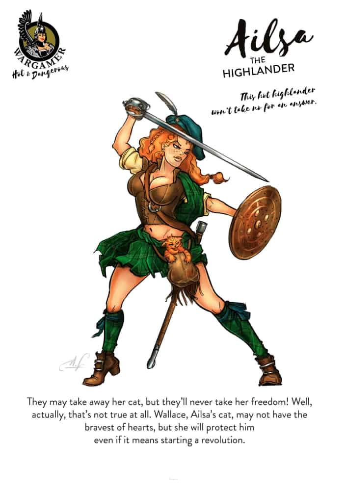 Ailsa, the Highlander (28 mm)