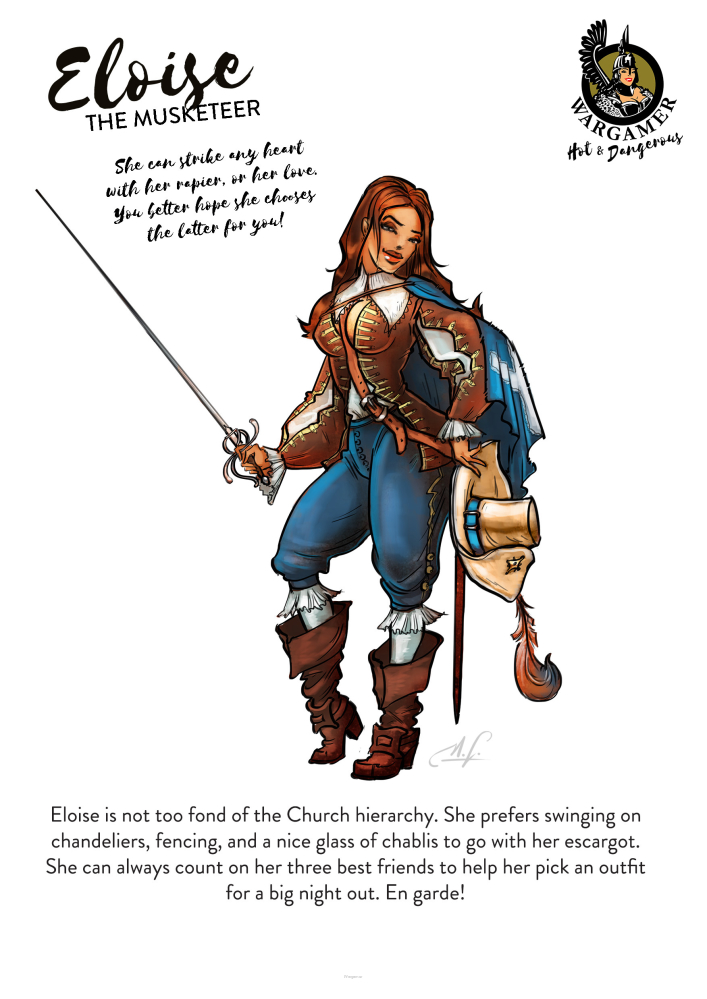 Eloise, the Musketeer (54mm)