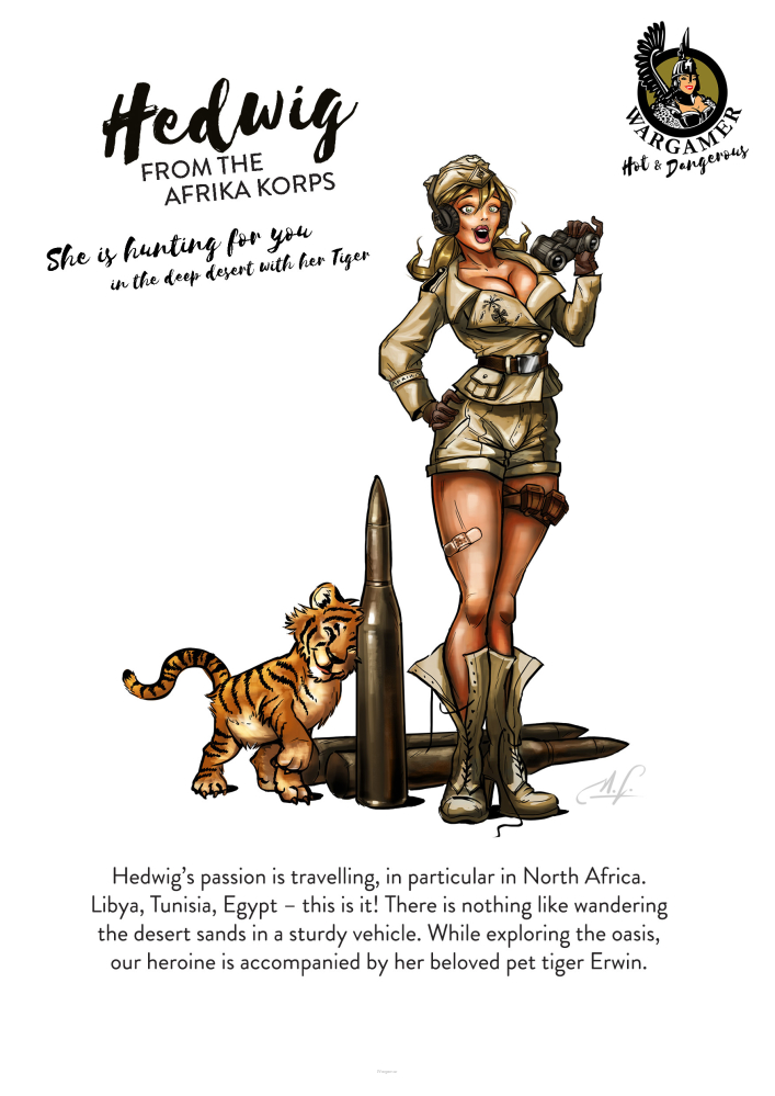 Hedwig from the Africa Corps (54 mm)