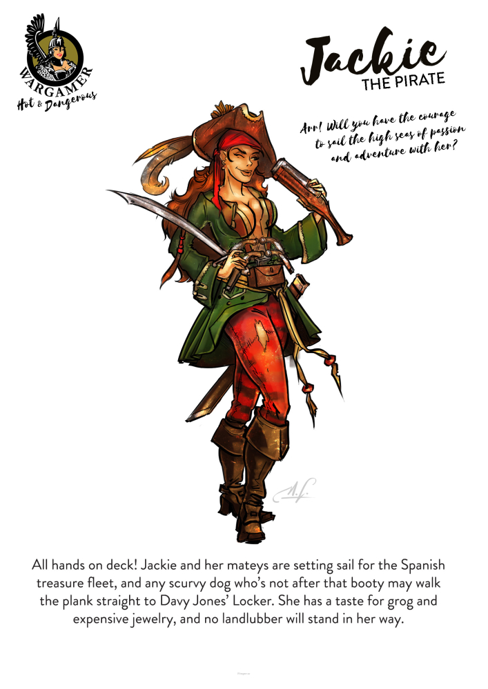 Jackie, the Pirate (54mm)