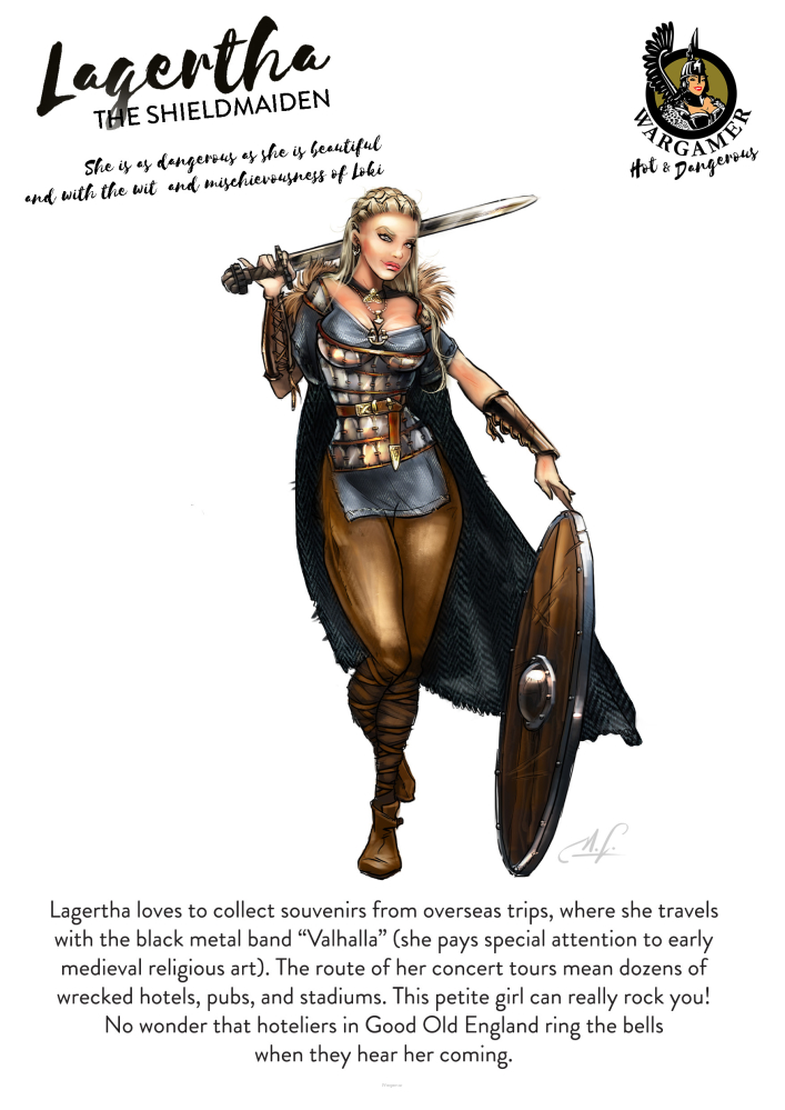 Lagertha, the Shieldmaiden (54mm)