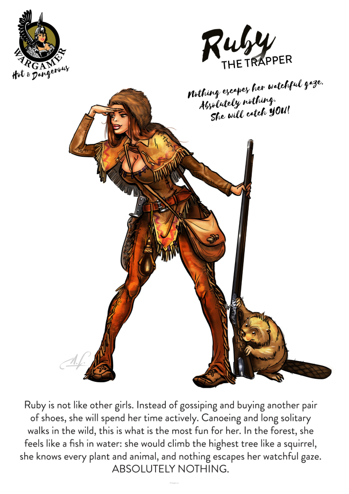 Ruby, the Trapper (54 mm)