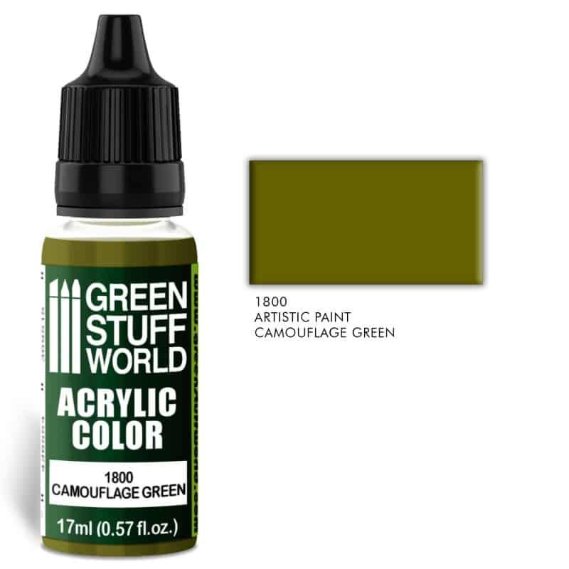 Camouflage Green Farba Akrylowa