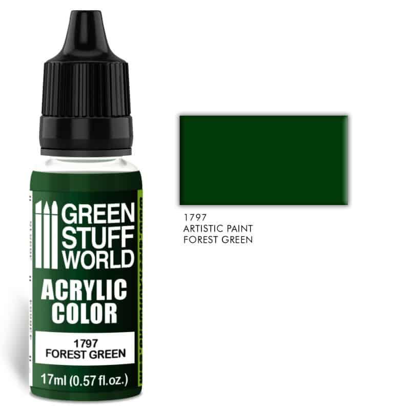 Forest Green Farba Akrylowa