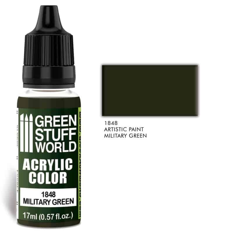 Zdjęcie Acrylic Color Military Green