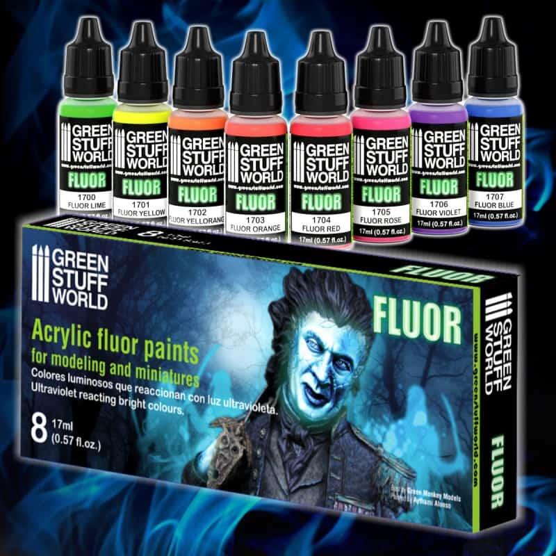 Zestaw Farb Fluorescencyjnych (Fluor Paints)